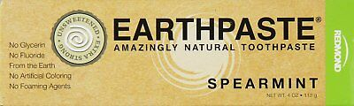 Earthpaste Natural Toothpaste, Redmond Trading Company, 4 oz Spearmint