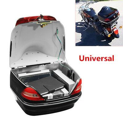 Motorcycle Trunk Box W/Taillight Fit For  KTM BMW Kawasaki Suzuki Honda Yamaha
