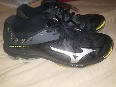 41e22ce6dbe0 Mizuno Wave Lightning Z2 Volleyball Shoes Women s Size 9 Black Silver Yellow