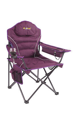 Oztrail - Modena Arm Chair - Purple - Folding - Camping - Picnic - NEW -
