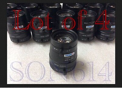 "Lot 4 Computar Varifocal Lens 5~50mm Manual Iris 1/3"" CS 1:1.3 Security Camera"