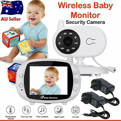 "3.5 "" LCD Baby Pet Monitor Wireless Digital 2 Way Audio Video Camera Security"