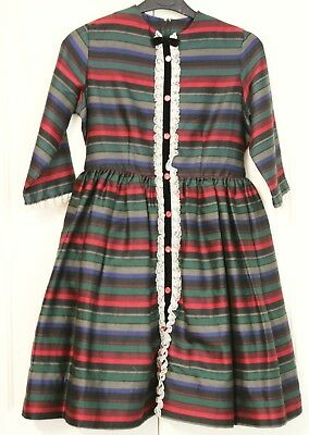 Girls Sz 8 Long Sleeve Winter Childrens Dress Vintage Clothing Formal Lace