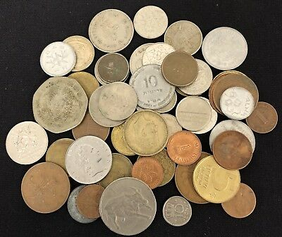 Lot of (50) Mixed World Foreign Coins.