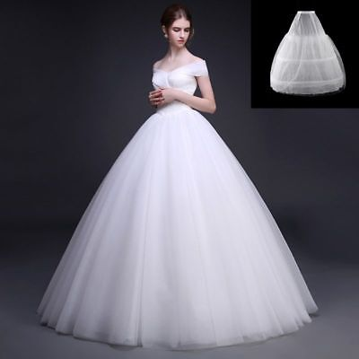 059c783ab69f 3 Hoops 2 Layer Bridal Wedding A-Line Underskirt Petticoat Skirt White  Crinoline