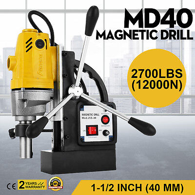 MD40 Mag Drill Magnetic Drilling Machine 40mm Powerful 12000N Switchable 1100W
