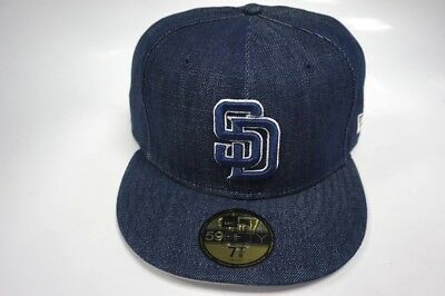 473194c0 SAN DIEGO PADRES New Era 59Fifty Fitted Hat Jean Material - $15.30 ...