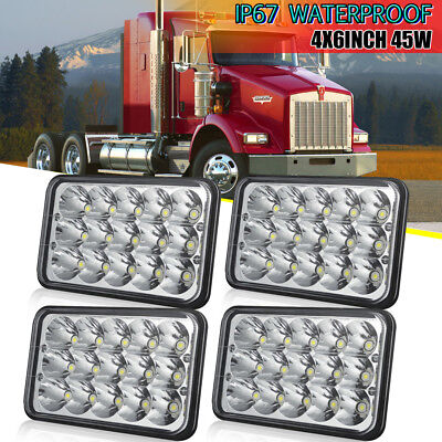 Crystal Clear Sealed Beam LED Projector Headlights Bulbs For Chevy Pick Up 81-87