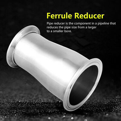 1pc Sanitary Stainless Steel Ferrule Concentric Reducer Pipe Fitting 63MM * 51MM
