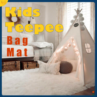 Kids Large Canvas Teepee Adults Childrens Indoor Play Tent Party Garden Tipi