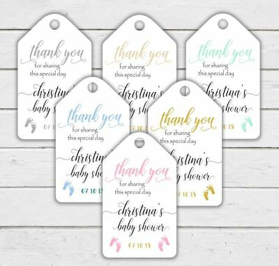 Personalised Baby Shower Favour Thank You Tags