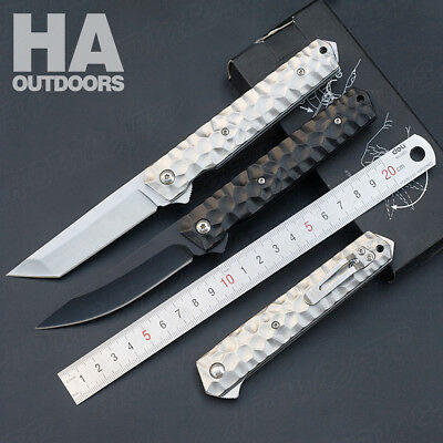 Folding Pocket knife Outdoor Tool Camping Survival Hiking Hunting Gift X46