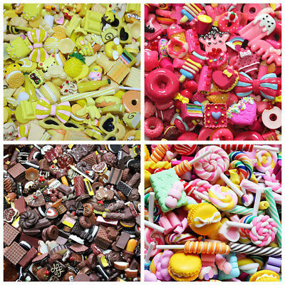 Cute Mini Play Toy Food Cake Biscuit Donuts For - Doll 10pcs/lot