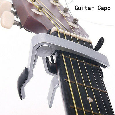 Aluminum Guitar Capo Spring Trigger Quick Change Release Electric Acoustic Clamp