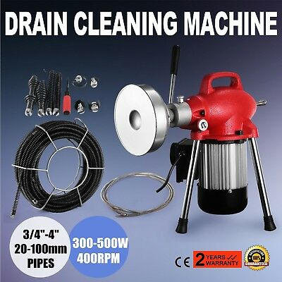 """3/4""""-4"""" Dia Sectional Pipe Drain Cleaner Machine Flexible Cleaning Machine"""