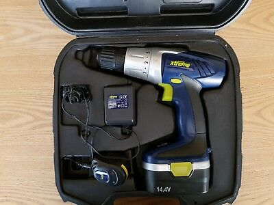 Challenge Extreme Cordless Drill set with drill bits, charger and hard case 1.4v