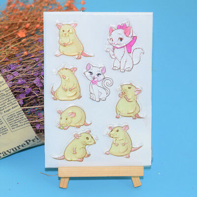 Lovely Mouse Cat Clear Silicone Rubber Stamp DIY Diary Scrapbooking Card Crafts