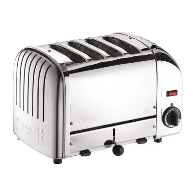 DUALIT 40352 Vario 4-Slice Commercial Toaster - Stainless Steel 360Wx210Dx220Hmm