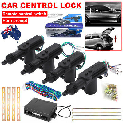 Central Lock Locking Kit Remote Control 4 Door Car Security System Entry Keyless