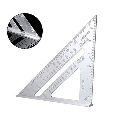 "1Pc 7"" Aluminum Carpenter Measuring Square Speed Triangle Ruler Protractor Miter"