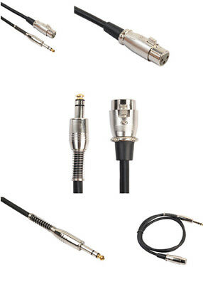 TRS 1/4 '' 6.35mm Jack Male To XLR Female Balanced Stereo Audio Mic Cable Lead