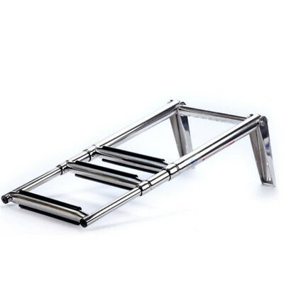 3 Steps Telescoping Stainless Swim Marine Boat Ladder -Built in Handle AU Ship