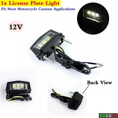 1x E-marked LED Custom Motorcycle Number/License Plate Light Lamp Universal Fits