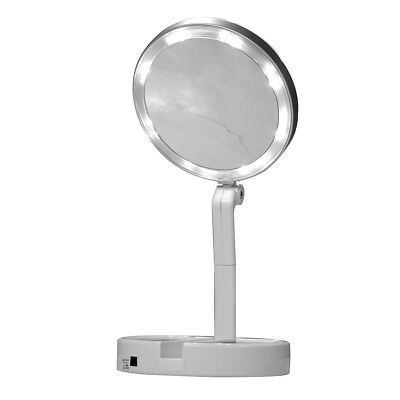 Finishing Touch Flawless Folding Mirror The take-anywhere LED magnifying mirror