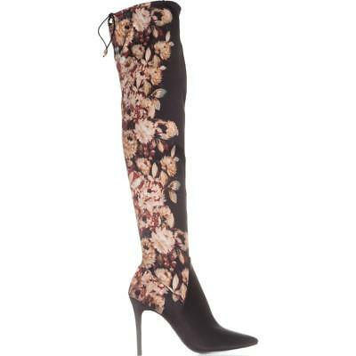543706229ff JESSICA SIMPSON GRIZELLA Women s Over The Knee Velvet Floral Boots ...