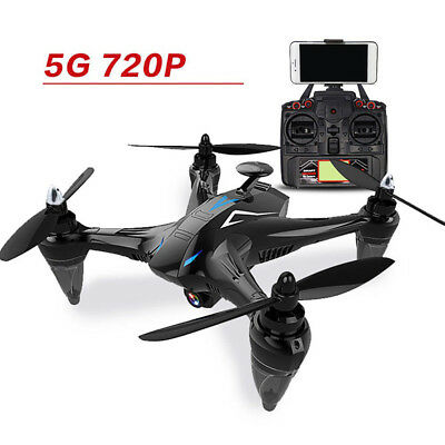 Wind Resistant 2.4G Remote Drone W/ 720P Camera GPS FPV Brushless Helicopter