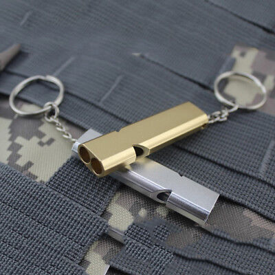 Keychain Outdoor Survival Whistle Double Pipe High Decibel Emergency Whistle CRI