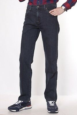 Mens Wrangler Texas straight stretch fit jeans 'Blue Lava' FACTORY SECONDS WA135