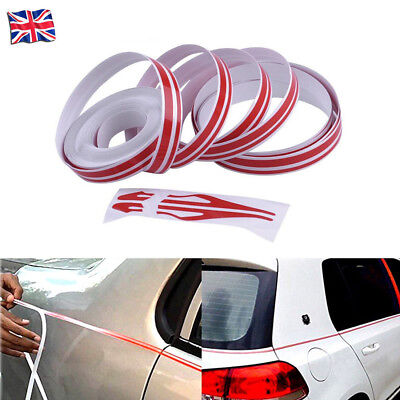 Red Car Body Decal Striping Pin Stripe Steamline Double Line Tape Vinyl Sticker