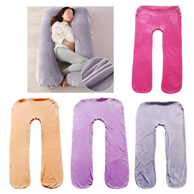 Flannel U Pregnancy Pillow Maternity Support Feeding Pillow Cover Pillowcase