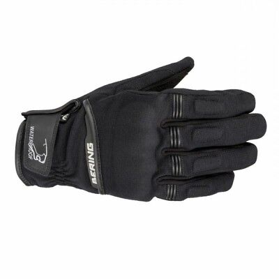 Bering Borneo Mens Black Waterproof and Breathable Textile Motorcycle Gloves