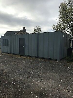 , Portable Anti Vandal Canteen/ Site Office with toilet and shower facilities an