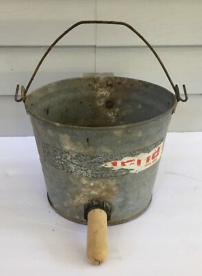 Vintage Galvanized Calf Feeding Milk Bucket w/Udder Nipple