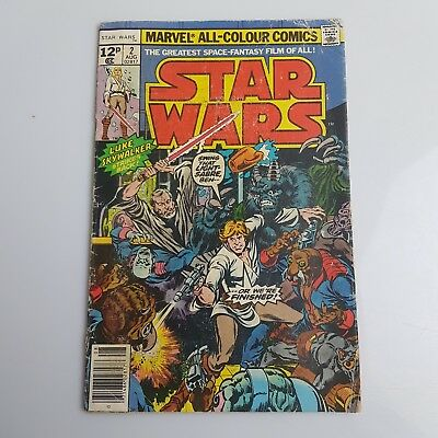 Vintage STAR WARS Marvel Comic 1977 Issue #2 AUG 02817 UK Pricing 12p