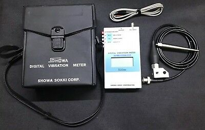 Showa Digital Vibration Meter - 1332A 01H With 2304A Sensor And Analogue Output
