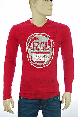 DESIGUAL homme TS RED LARGA Tee shirt rouge 29T1408 coloris 3029 rouge taille M