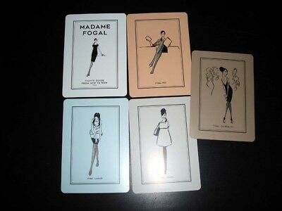 """MADAME FOGAL Tights Hosiery """"Tights Guide"""" Product CARDS Drawings from 1923"""
