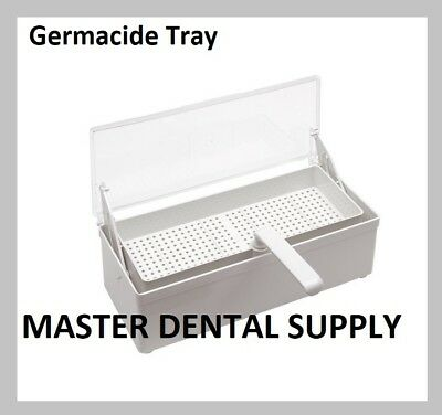 Germicide Tray LARGE Cold Sterilization Dental Tatto Nail Instruments WHITE