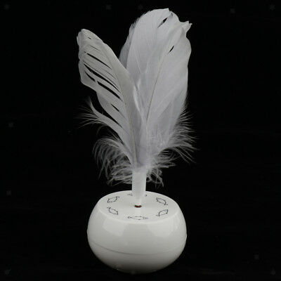 Baoblaze Pet Cat Electric Rotating Interactive Toy with Realistic Feathers