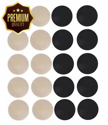 WODISON Womens Nipple Covers Adhesive Breast Petals Stain Round Shape (10 Pairs)