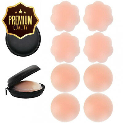 Silicone Nipple Covers Invisible Breast Petals Nippleless Sticker Adhesive...