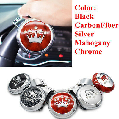 Universal Crown Hickory Car Rotary Steering Wheel Suicide Spinner Handle Knob