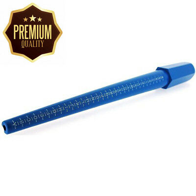 Lightweight Blue UK Ring Stick By The Olivia Collection Size A- Z & 1 - 6
