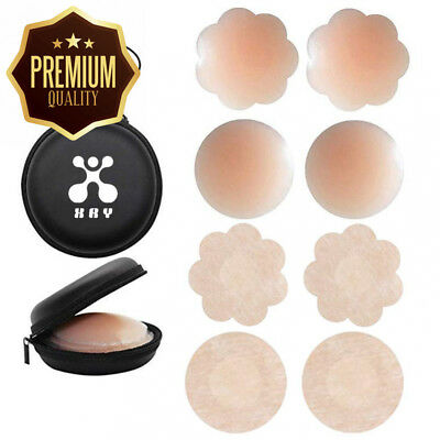 XRY Womens Silicone Thin Pasties Breast Petals,Reusable Invisible Adhesive...