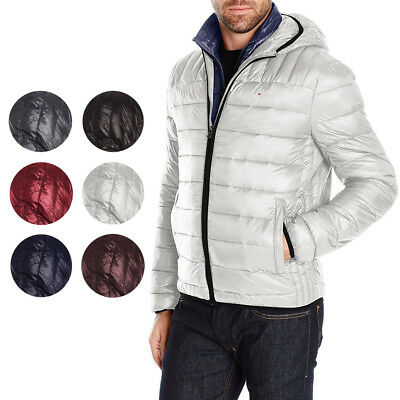 Tommy Hilfiger Men's Insulated Packable Hooded Puffer Nylon Jacket