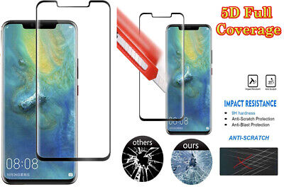 5D Premium Gorilla Full Curved Tempered Glass Protector For Huawei Mate20 Pro